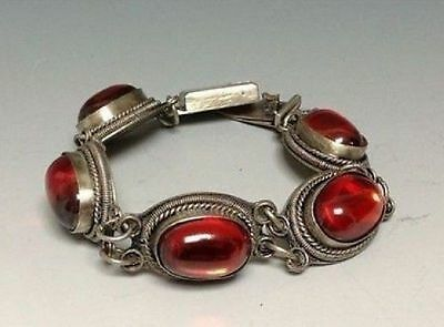 Chinese Natural Red Agate Bracelet With Deautiful Beads Nice Bangle