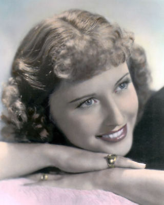 "BARBARA STANWYCK HOLLYWOOD ACTRESS 8x10"" HAND COLOR TINTED PHOTOGRAPH"