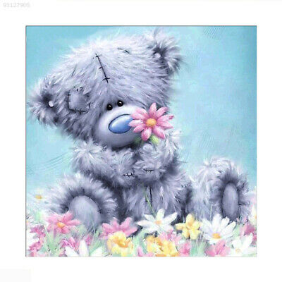 A43D 30*30*0.5cm Puppies Kiss Flowers Painting Wall Xmas Gift DIY Home Decor