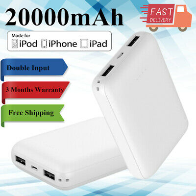 Mini Portable 20000mAh Power Bank External Backup Battery Charger for Cell Phone