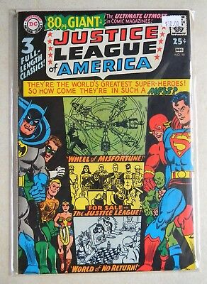 Justice League of America #58 $50.00 80 PG GIANT 7.0 FN/VF Wonder Woman FLASH