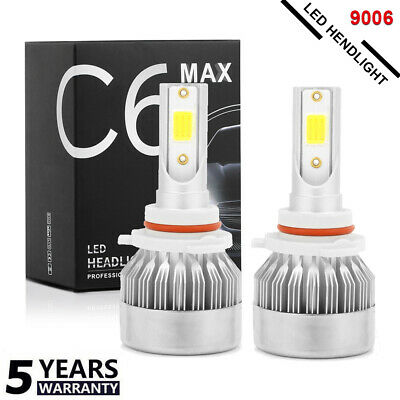 2PCS 9006 LED Headlight Kit CREE 20000LM 200W 6000K High Low Beam Bulb Fog Light
