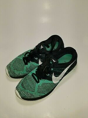 official photos e0751 f130f Nike Flyknit Lunar 3 Women s Size 9 Teal Black Running Shoes 698182-005