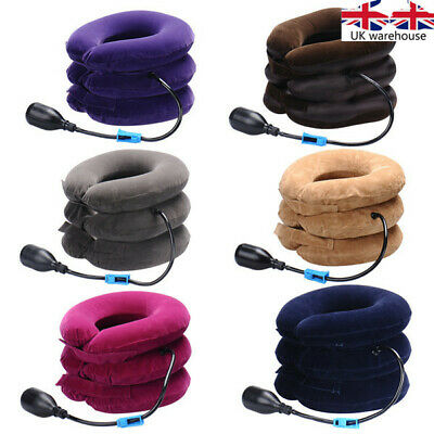 Head New Air Inflatable Cervical Neck Traction Pain Brace Pillow Support Device