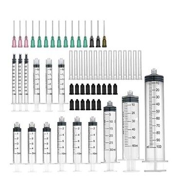 15 Pack Syringes Blunt Tip Needles 100ml,60ml,30ml,10ml,5ml,3ml,1ml