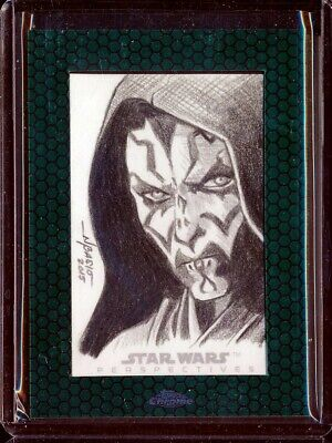 2015 Topps Chrome Star Wars Persepctives Darth Maul Sketch 1/1