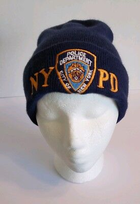 NYPD HAT KNIT Beanie Officially Licensed by The New York City Police ... 892046b2afc