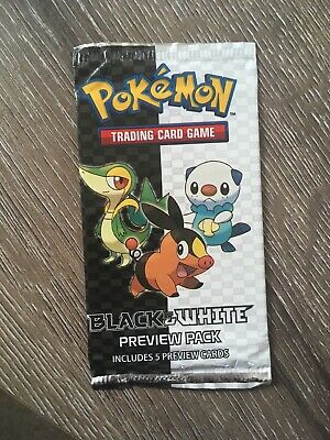 Pokemon Sealed Black And White Preview Pack Very Rare Collectible!!