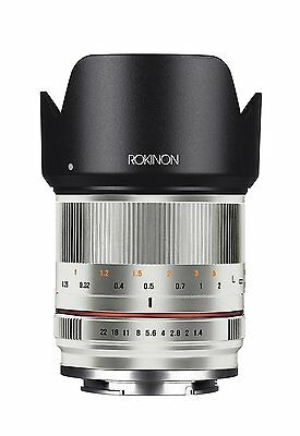 Rokinon 21mm F1.4 High Speed Wide Angle Silver Lens Fuji X Mount RK21M-FX-SIL