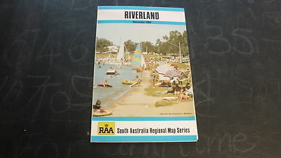Old 1984 Fold Out Road Wall Map, Raa South Australia Riverland