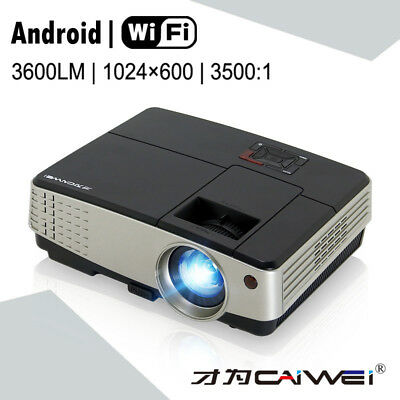 Portable Android WiFi LCD Projector Home Theater LED HD Video Movie TV Game HDMI