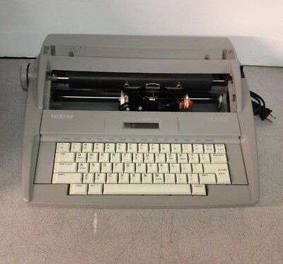 Brother SX4000 Electronic Typewriter Missing Daisy Wheel/Ribbon/Top Cover