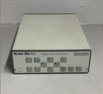 Communication Specialties ScanDo Pro 1271 Computer To Video Scan Controller