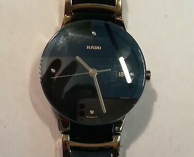 88e657be8 RADO MENS CENTRIX DIAMOND BLACK AND Gold CERAMIC BRACELET Quartz WATCH