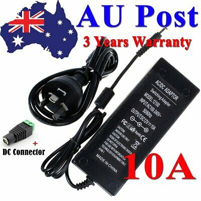AC 100-240V To DC 12V 10A 120W Power Supply Adapter Charger For LED Strip Lights