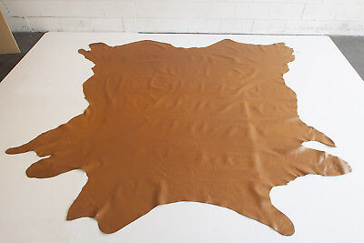 FULL-GRAIN ANILINE WHOLE COW HIDES x 2 —tan colour— Futura Leather ITALY 8.21m²