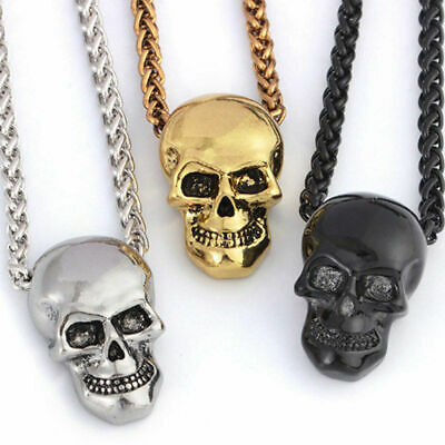 5ab7c0866d495 SKULL HAND PENDANT Chain Necklace Gold Silver Black Mens Jewelry ...