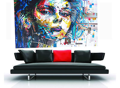 art painting urban princess street art face girl oil abstract Huge woman lady