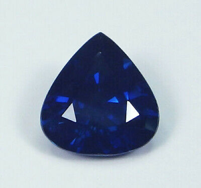 GIA Certified Unheated Natural Blue Sapphire Cambodia Pear 1.36 ct