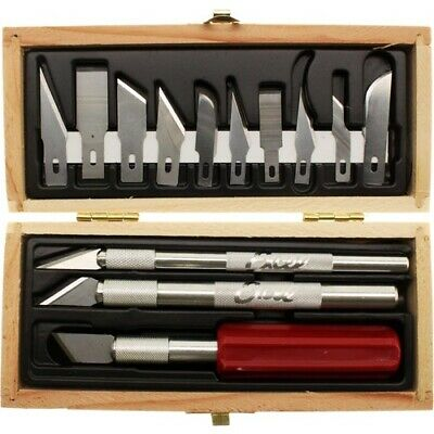 Hobby Knife Set 13pc in Wooden Chest