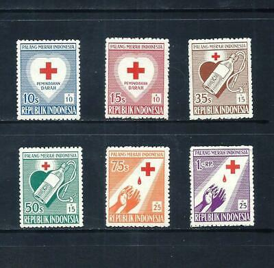 INDONESIA _ 1956 'RED CROSS' SET of 6 _ mnh ____(571)