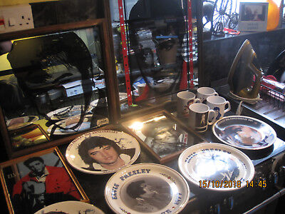 Elvis Presley Lot Mirrors Plates Mugs Collection Only Vintage