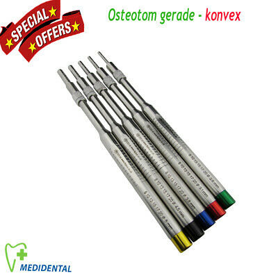 5er set Sinus Lift Osteotome Implantologie Osteotomes gerade konvex implant Tool