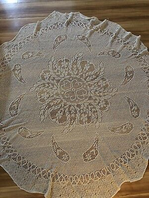 Tablecloth Beige round. 150cm Diameter. In Perfect Condition