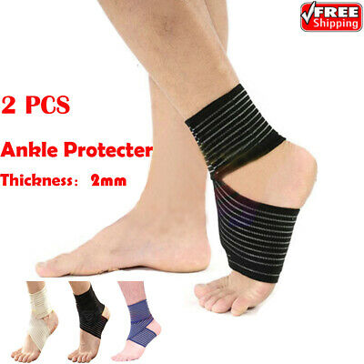 Ankle Support Strap Adjustable Brace Foot Sprains PainRelif Sports Protector UK