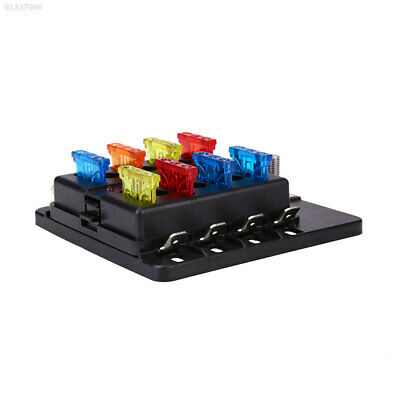 F9FC 1 In 8 Fuse Box With LED Indicator Light PC Connecting Line Terminal Style