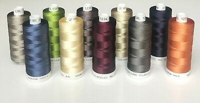 MADEIRA classic No 40 machine embroidery threads. 10 x 1000 m. New.