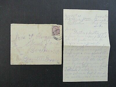 1901 Boer War Cover + Soldiers Letter - B.a Cancel