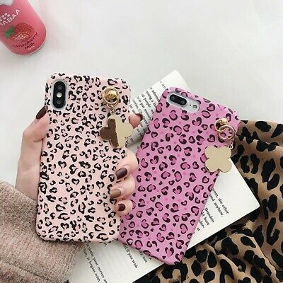 Hybrid Shockproof Slim PC Pendant Chain Case Cover for i Phone Xs Max Xr 8Plus 6