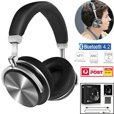 Bluedio T4S Bluetooth 4.2 Headphones Wireless Noise Cancelling Stereo Headset AU