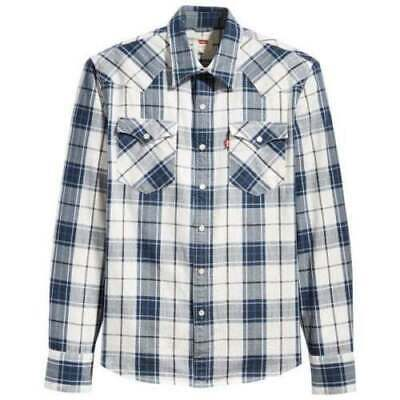 d8feeee0f7 Levi s Barstow Western Wildcat Blue Check Shirt 65816-0280 - Size  Large