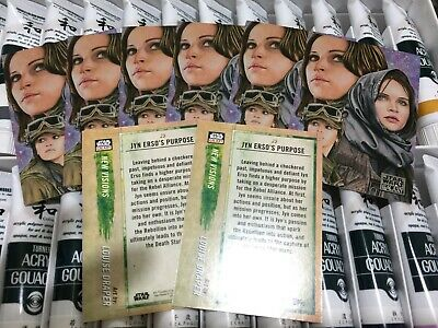 2018 Topps Star Wars ARTIST SIGNED Galaxy Card #25 Silver Base Jyn Erso Auto