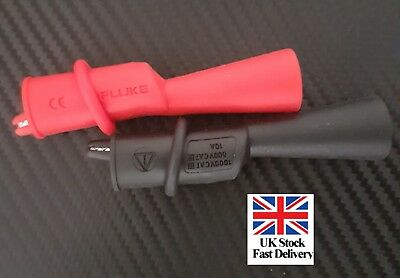 Genuine New Fluke Multimeter Thread Alligator Clip Set Ac175 Testmeter Original