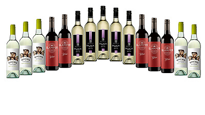 AU Best Seller Mixed Red & White Wine Pack 5-Star Winery 15x750mL FREE SHIPPING