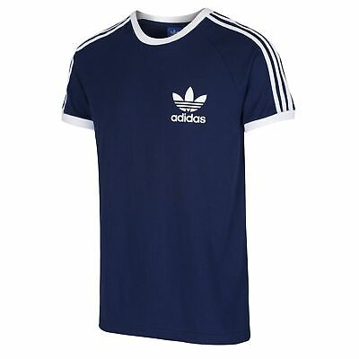 adidas ORIGINALS CLFN T SHIRT NAVY RETRO TREFOIL TOP TEE MEN'S CALIFORNIA SUMMER