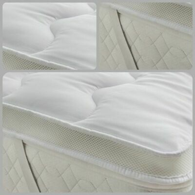 New Luxury 5Cm Mattress Micro Hollow Fiber Filing Anti Allergic Topper 5 Sizes