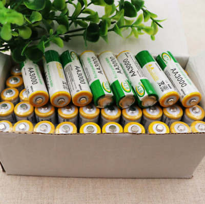 4-20PCS 3000mAh AA 2A NI-MH 1.2V Rechargeable Battery Recharge Pre-Charged