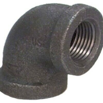 "Anvil Malleable Iron Pipe Fitting, 90 Degree Elbow, 1-1/4"" NPT Female, Black"