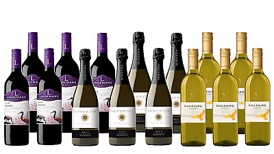 Mixed Shiraz, Riesling, Cuvée 5-Start Winery 15x750mL - FAST & FREE SHIPPING
