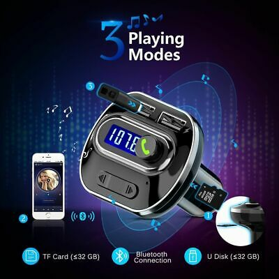 Bluetooth Wireless FM Transmitter Modulator Car Kits MP3 Player Dual USB Charger