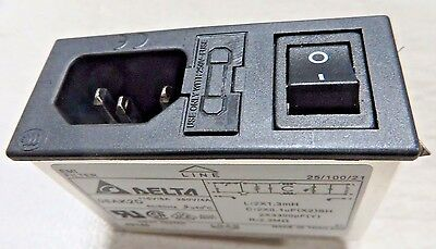 INTERPOWER 83510031 Four Function Power Entry Module, C14 Inlet, Switch, Fused