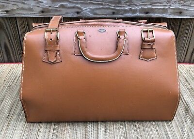 Zipp-O-Grip Doctors Bag Leather Satchel Case Bag Vintage House Call