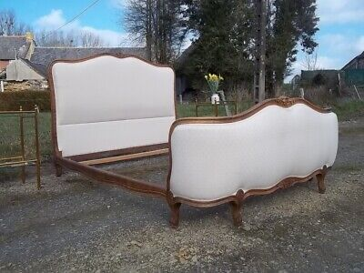 French Vintage Louis Xv  Neoclassical Style Fabulous Double Corbielle Bed