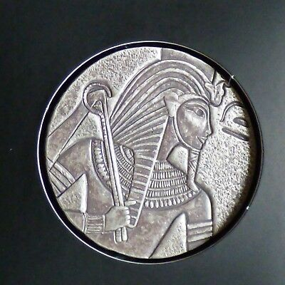 "Tchad 5000 CFA ""TUT"" 5 oz silver 99.9% antique finish"