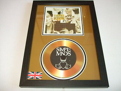 Simple Minds   Signed  Gold Cd  Disc