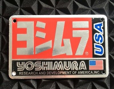 YOSHIMURA USA 3D Motorcycle Exhaust Heat Resistant Sticker Decal Aluminium